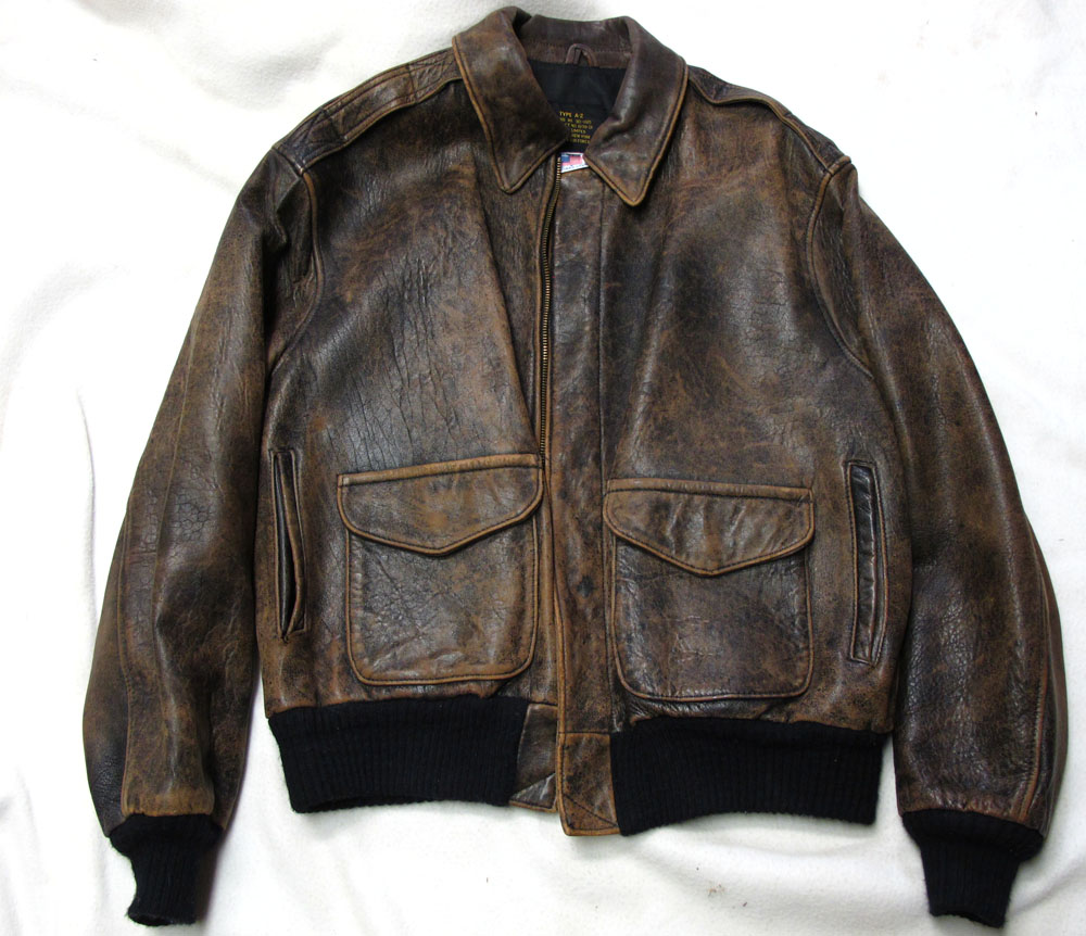 A-2 leather flight jacket